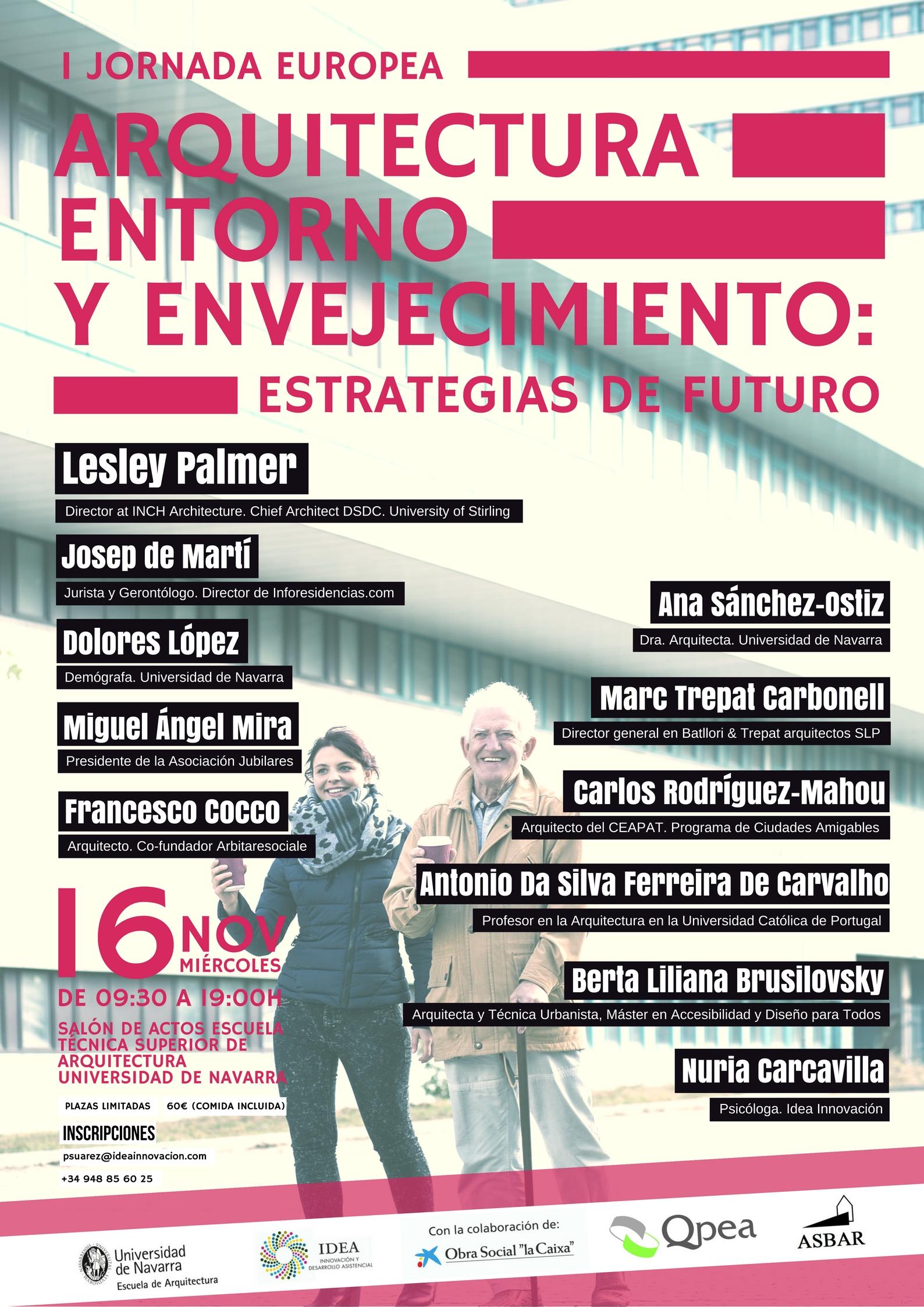 Cart. Jornada Europea Arquitectura, Entorno y Envejecimiento