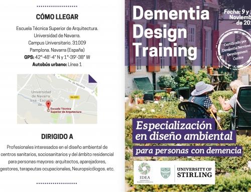 """Curso """"Especialización en Diseño Ambiental para personas con demencia"""" de la Universidad de Stirling"""