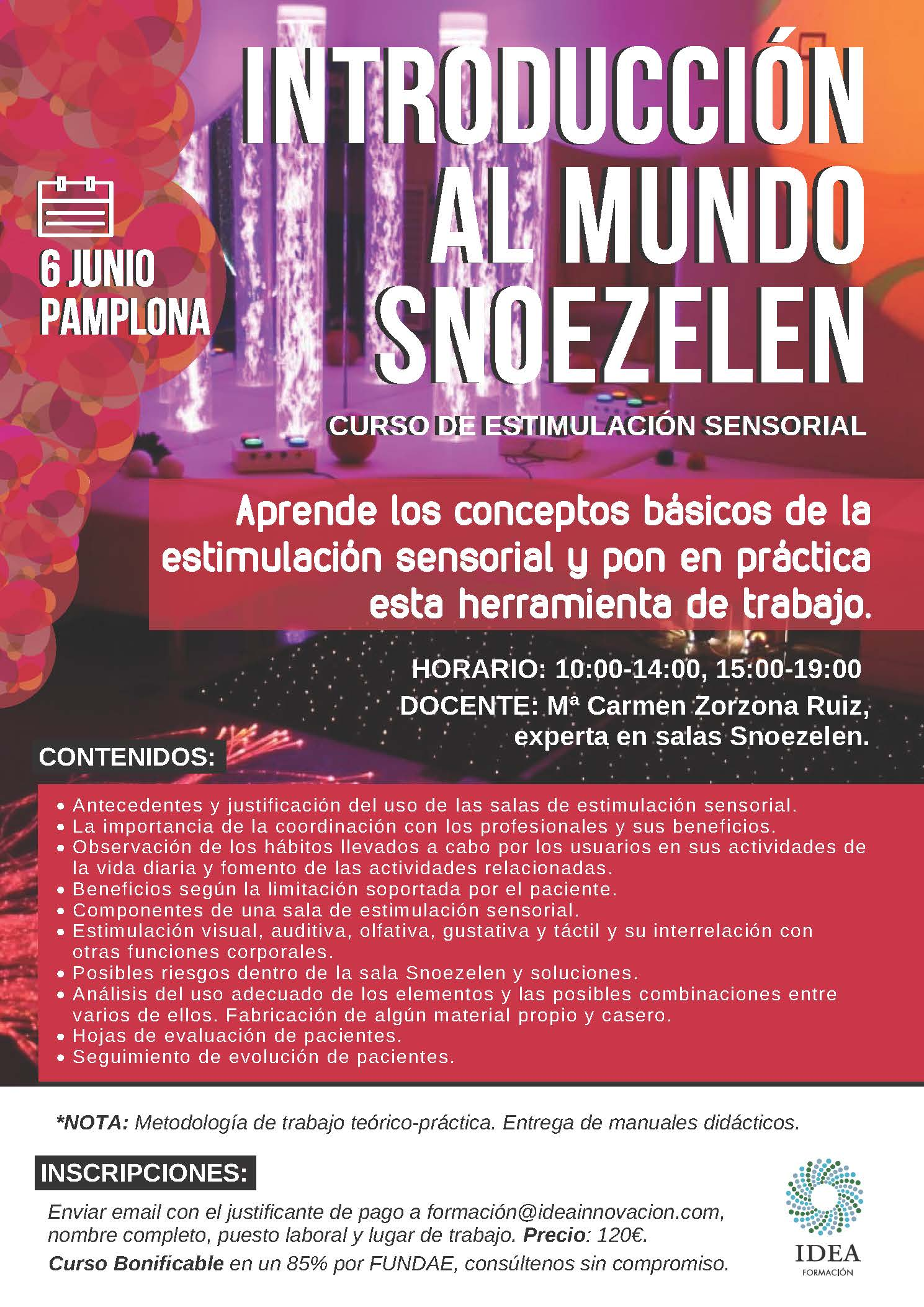 CURSO SNOEZELEN PAMPLONA 6 JUNIO 2018
