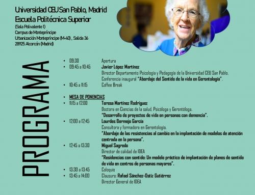 """II Jornada de """"Innovación Asistencial y Sentido de Vida de las personas Mayores"""""""